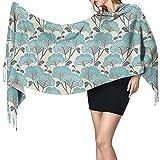 Bufanda de mantón Mujer Chales para, Flores japonesas Arte Mujer Invierno Cálido Bufanda Moda Largo Grande Suave Cachemira Chal Abrigo Bufandas