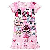 Schlafanzug / Schlafanzug mit niedlichem Puppen-Motiv, bequem, lose Passform, für Mädchen Gr. 9-10...