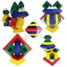 Pyramid Stacking Toy Building Blocks 3D Puzzle Brain Teasers for Kids and Adults | Creative Educational Preschool Toys, Kids Toys for 3 Year Old Boys & Girls