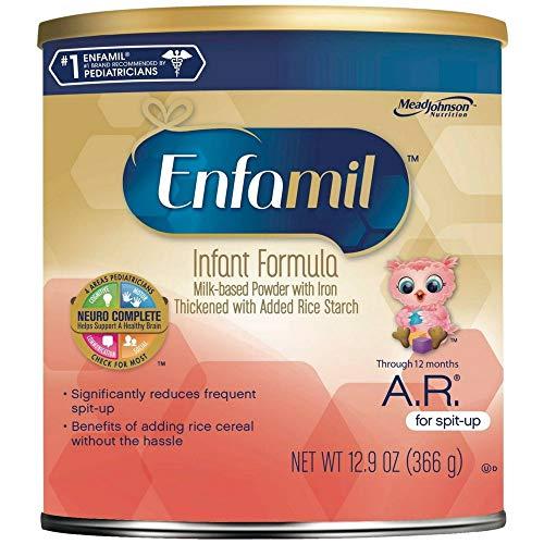 Enfamil A.R. Infant Formula, for Spit-up, Powder 12.9 oz (Pack of 4)