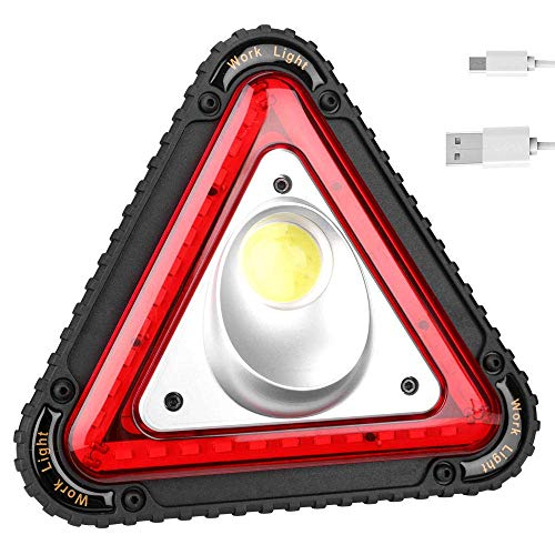 Camping Lichter Camping Leuchten und Laternen wiederaufladbare Licht Tragbare Warndreieck führt Flutlicht 4 Modi Cob führt Auto-Reparatur-Arbeits-Lampe Multifunktionsgriff Camping helle Scheinwerfer-1