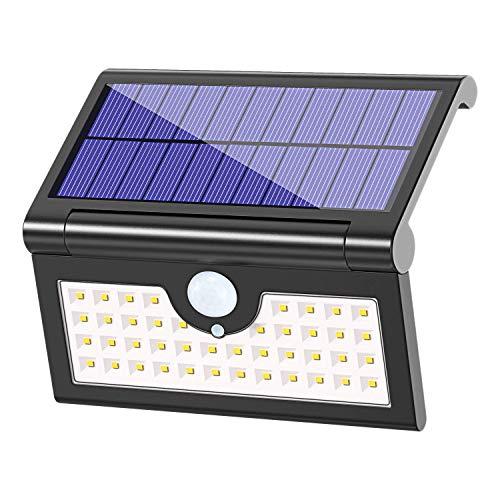 Opvouwbare zonnelampen Outdoor 42 LED, Cocoda Waterdichte Super Heldere [3 Verlichtingsmodi] Bewegingssensor Zonne Beveiliging Licht Draagbare LED Camping Lampen voor Driveway, Patio, Yard, Tuin, Deck