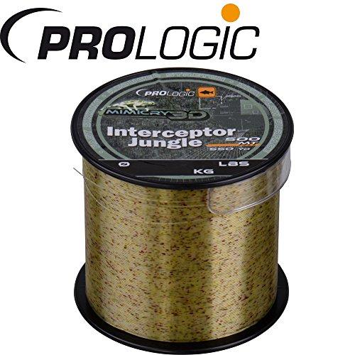 Prologic Interceptor Mimicry Jungle 500m - Karpfenschnur zum Karpfenangeln, Monofilschnur für Karpfen, Angelschnur, Monoschnur, Durchmesser/Tragkraft:0.405mm / 25lbs / 11.5kg Tragkraft