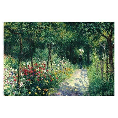 Vliestapete Auguste Renoir - Frauen im Garten Premium Fototapete 255cm x 384cm