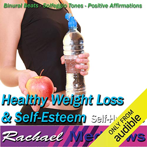 Healthy Weight Loss & Self-Esteem Hypnosis audiobook cover art