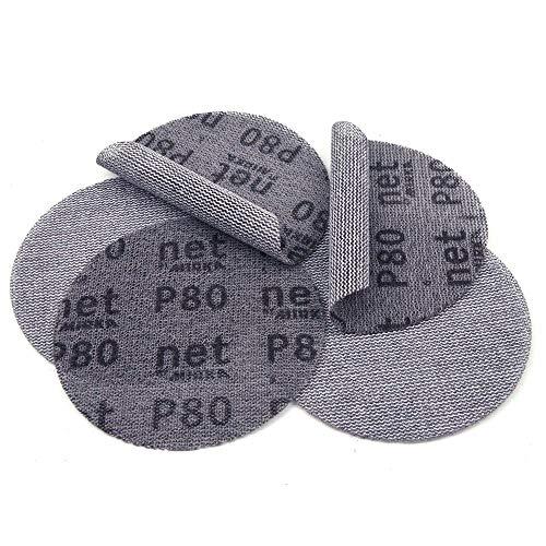 10PCS 5 Inch 125mm Mesh Dust-Free Anti-Blocking Hook&Loop Sanding Discs Round Abrasive Sandpaper 80#180#240# Car Decorate Paper,240
