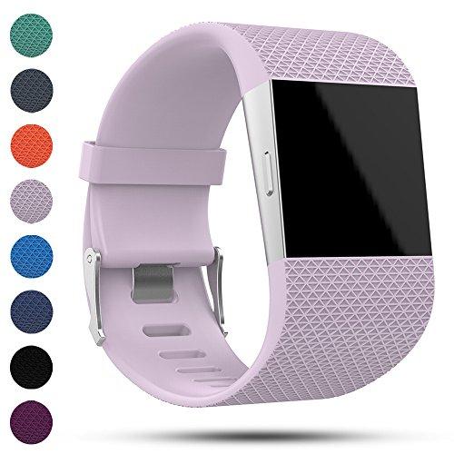 iFeeker Fitbit Surge Ersatz Armband Band, Classic weiches Silikon Metall Verschluss Uhr Schnalle Handgelenk Armband Uhrenarmband Armband für Fitbit Surge Fitness Super Uhr