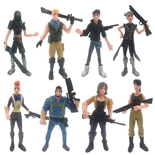 fortnite cake toppers set 8pcs fortnite Action Figures Toys fort&nite party decoration for the fortnite party supplies