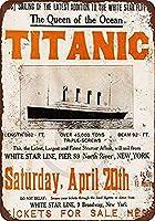 なまけ者雑貨屋 メタルサイン Titanic Maiden Voyage ヴィンテージ風 ライセンスプレート メタルプレート ブリキ 看板 アンティーク レトロ