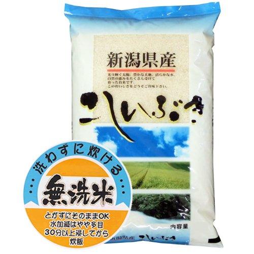 【精米】新潟県産 無洗米 白米 北陸 越後の米 こしいぶき 5kg(長期保存包装)x4袋 令和元年産