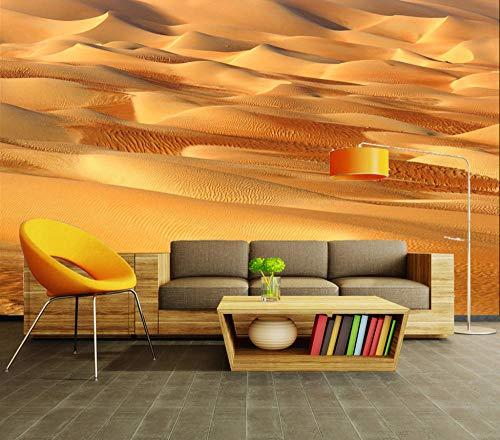 Sucsaistat Natrual Landschaft Goldene Wüste Sand Ansicht 3D Raum Fototapete Druck Für Wohnzimmer Tapeten Wandbild Kunst,300 * 210Cm