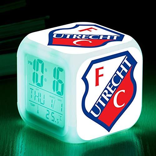 FDGFDG Football Club LED Reloj Despertador Alarma Movimiento Señal Reloj Snooze Reloj Digital Regalo para niños Mesita de Noche Reloj de péndulo