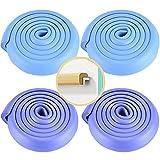 KUMADAI 4pcs Protectores Esquinas Bebe, de Pared Mesa Madera Comedor Ventanas con Adhesivo Protector Esquinas Muebles Bordes Cubre Goma Espuma Decorativo Tipo L 8m,Blue Purple