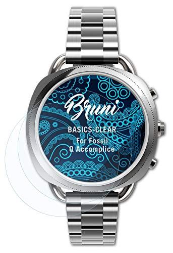Bruni Schutzfolie kompatibel mit Fossil Q Accomplice Folie, glasklare Bildschirmschutzfolie (2X)