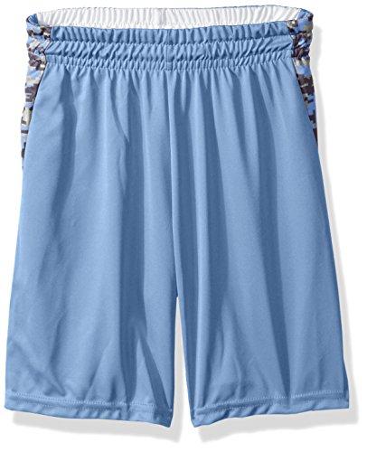 Augusta Sportswear Boys' Medium Hook Shot Reversible Short, Columbia Blue/Columbia Blue Digi