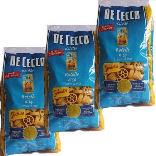 3x De Cecco Nudeln 'Rotelle' n.54, 500 g