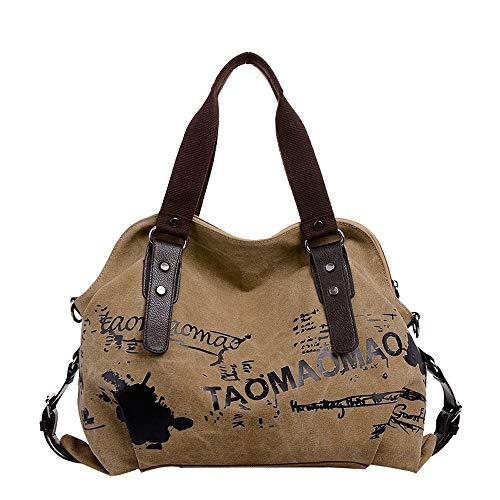 Styledress Shoulder Bag Messenger Bags Women's Retro Backpack Handbags Damen Handtasche Schultertasche Umhängetaschen Handbag School Bag Cross Body Bag for Men and Women (Khaki)