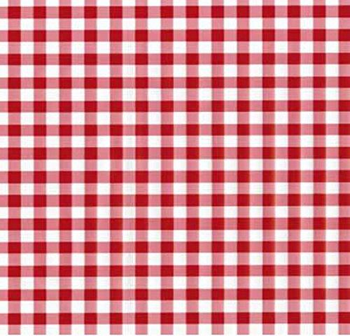 Klebefolie - Möbelfolie Karo Kariert rot weiss - 45 cm x 200 cm Selbstklebende Folie - Retro Motiv - Dekorfolie Selbstklebefolie