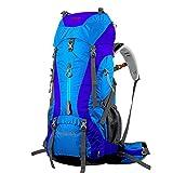 BLUE CHARM Mochila de Camping de Gran Capacidad para Hombres y Mujeres de Viajes de Senderismo al Aire Libre Hombres y Mujeres 60L + 5L