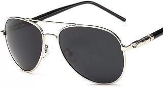 DishyKooker Classic Men Polarized Sunglasses Driver Driving Sunglasses Silver as shown