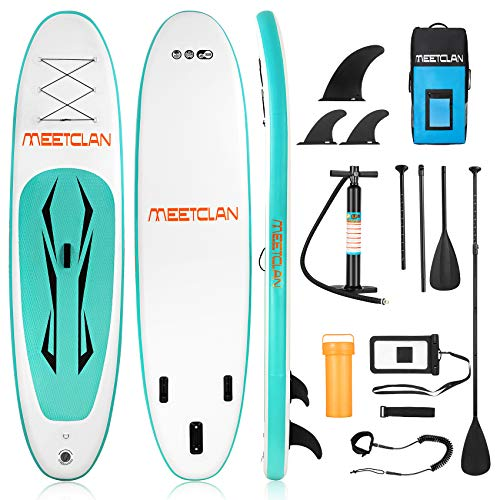 MEETCLAN Stand Up Paddle Board for Adults Inflatable 10'x30''x6'' 16.7lbs Lightweight SUP Paddleboard with Non-Slip Deck, ISUP Accessories & Backpack