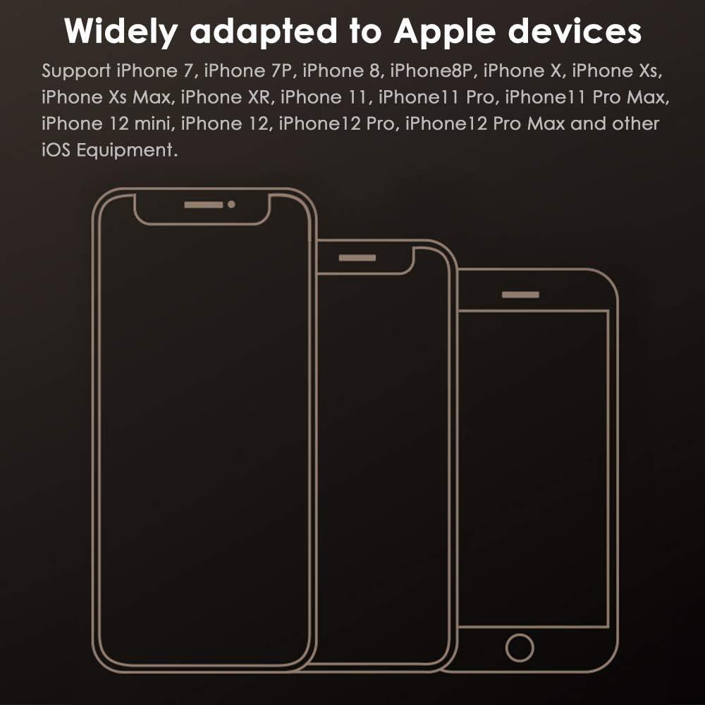 Adaptateur de Casque pour iPhone Dongle Audio AUX 3,5 mm Jack de Casque Convertisseur de Distribution de C/âble Audio pour iPhone 12//7//7P//8//8P//11//X//XR//XS Compatible avec Tous Les Syst/èmes iOS 2 Pack