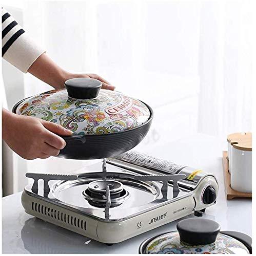 Küchenwaren Kochgeschirr aus Gusseisen Bottom Dutch Oven, Auflauf Beständig gegen chemische Kochen, gedünstet Suppe, Keramik Bratpfanne, angepasst an Gasherd und andere Öfen