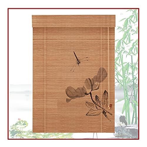 QIANDA Bambusrollo Raffrollo, Innen Fensterläden Raumverdunkelung Partition, Benutzt Für Windows, Veranden, Garten, (Color : B, Size : 90x175cm)