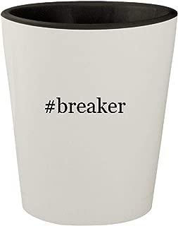 #breaker - White Outer & Black Inner Hashtag Ceramic 1.5oz Shot Glass