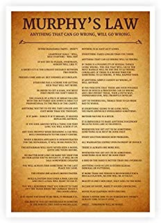Best murphy's law poster Reviews