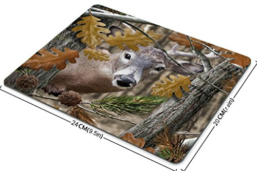 Smooffly Gaming Mouse Pad Custom,Wild Deer Forest Non-Slip Thick Rubber Large Mousepad Photo #3