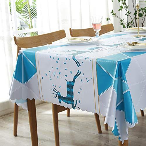 XIAOE Mantel de plástico Limpiar Mantel Rectangular Mantel a Prueba de Manchas Mantel Lavable a Prueba de Agua Mantel Lavable para Cubiertas de Mesa de Comedor Manteles de Fiesta 90 * 90cm