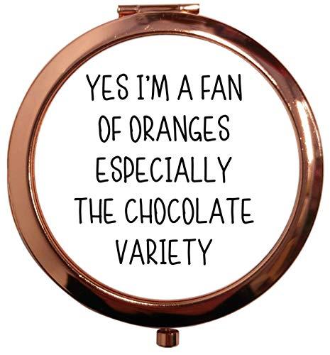 Flox Creative - Éventail de miroir carré carré d'oranges en particulier chocolat