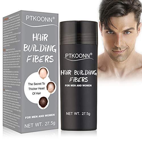 Fibras Capilares,Hair Building Fibers,Hair Loss Concealer,Fibre Construcción de pelo Fibras de Cabello Naturales Negro 27.5g