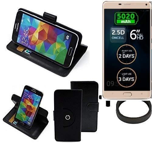 K-S-Trade® Case Schutz Hülle Für Allview P8 Energy Pro + Bumper Handyhülle Flipcase Smartphone Cover Handy Schutz Tasche Walletcase Schwarz (1x)