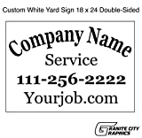 18 x 24 Custom Double-Sided Yard Sign with Metal Stakes