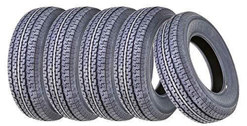 5 New Premium FREE COUTNRY Trailer Tires ST 205/75R15 /8PR Load Range D Radial w/Scuff Guard