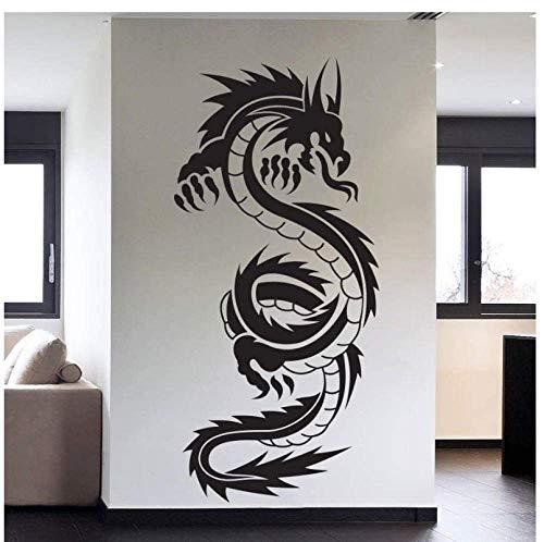 Verwijderbare Vinyl muur Art Decals Sticker Chinese Draak Tribal Tattoo Muur Art Decal Art Home Decor Paper45X95Cm
