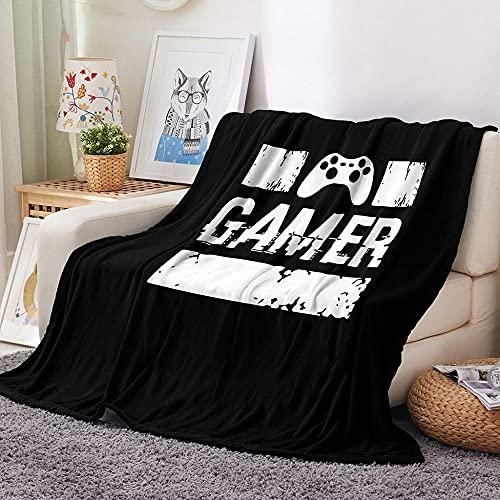 Mantas para Sofa 150 × 200 cm Mantas para Cama de Franela Reversible Mantas,,Ligeras de 100% Microfibra Fácil De Limpiar Extra Suave Cálido