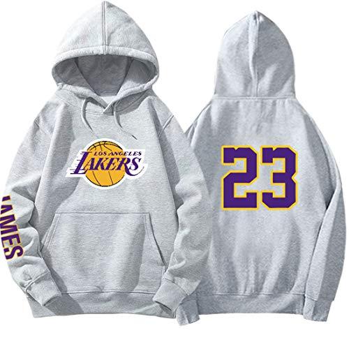 HYF Sudadera con Capucha de Baloncesto Lakers James, Sudadera Casual