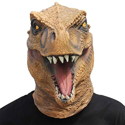 S$S Dinosaur masker latex masker dier hoofd draak kostuum voor Halloween Kerstfeest Decoratie Dino Maskers Cosplay Props Helm
