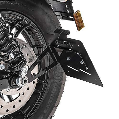 Kennzeichenhalter seitlich M für Harley Davidson Sportster 04-20 schwarz