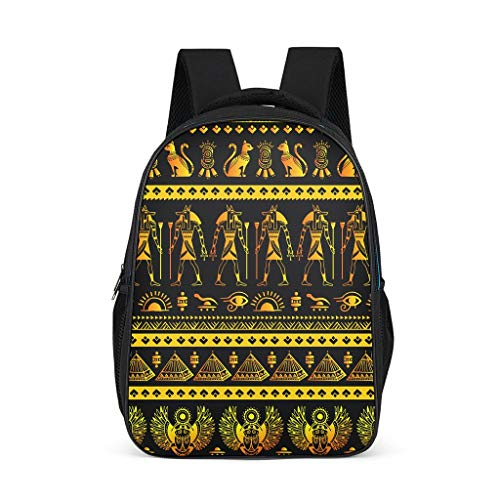India Egypt Maya Adult's Backpacks Classic All Over Print for Youth grey onesize