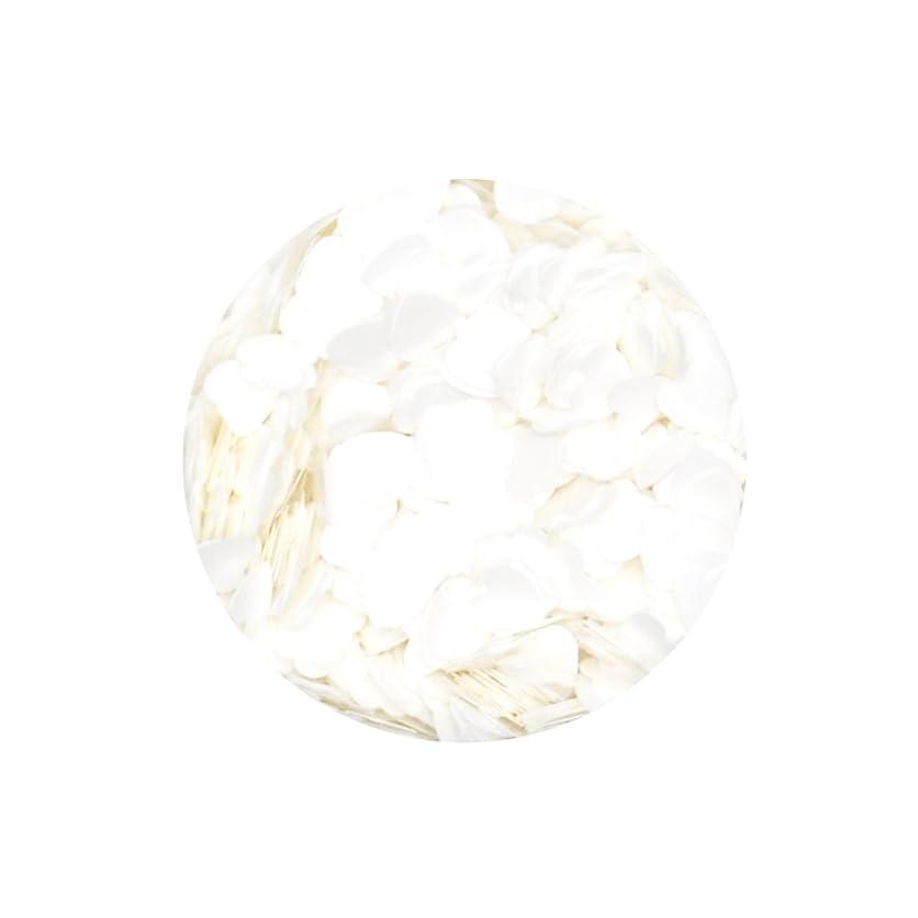 ポンド爬虫類縮れた高品質ホログラム ハート形 パステルカラー【ホワイト】