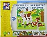 Woodyland 4 x 5 'Varios Animales' Cubos Picture Puzzle (20 piezas) , color/modelo surtido