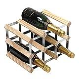 RTA Botellero Tradicional para 9 Botellas de Vino, Totalmente montado, Pino Natural (FSC)