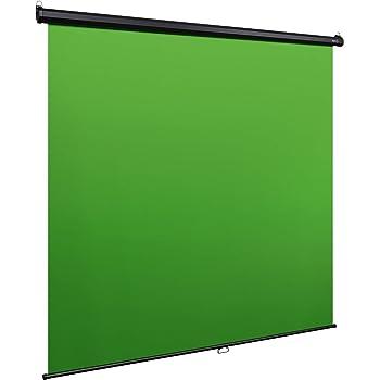 Elgato Green Screen MT - Fond vert rétractable pour incrustations, toile anti-plis ultra résistante (DuPont Dacron), installation facile au mur ou au plafond - Large (200 x 180 cm)