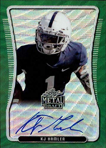 2020 Leaf Metal Draft Portrait Autograph Wave Green Football S5#BAP-KH2 KJ Hamler Auto Penn State Official Player Licensed Rookie Card