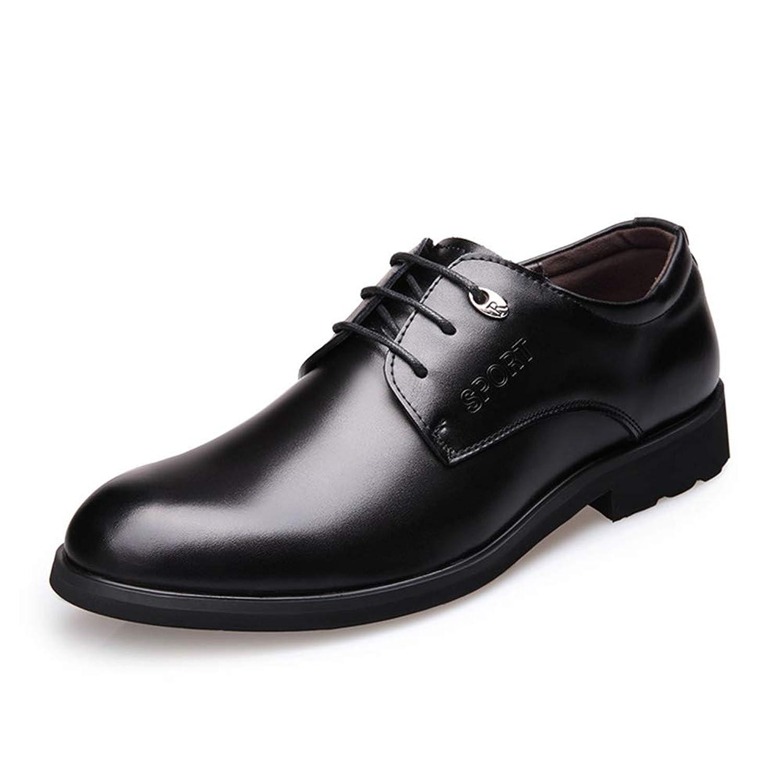 [ジョイジョイ] ビジネスシューズ メンズ 紐靴 オフィスシューズ 軽量 カジュアル クッション 歩きやすい スーツ クッション 防滑 ブラウン/ブラック ウォーキング 蒸れない フォーマル 冠婚葬祭 革