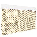 HOME MERCURY – Cortina espiral para puerta exterior o interior, material PVC – libre de insectos (200x90CM, Blanco+Filo Naranja R4)